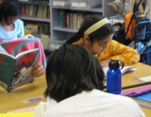 independent reading in a diverse elementary classroom in California