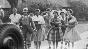 Little Rock 9 walking to Central High