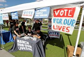 Parkland, Florida student activists register to vote